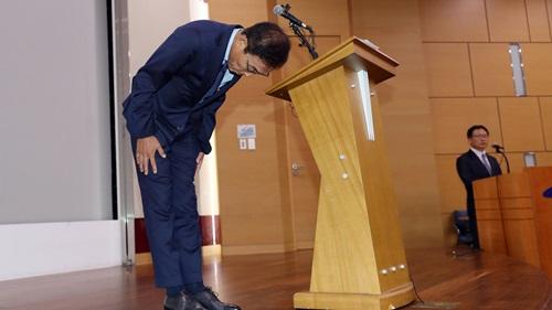 5일 김기남 삼성전자 대표이사가 기흥사업장에서 사망사고가 발생한 데 대해 공식 사과했다.