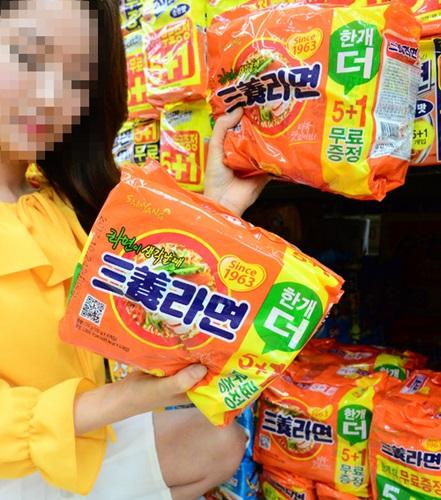 삼양식품의 대표 제품인 삼양라면 = 기사 내용과 무관