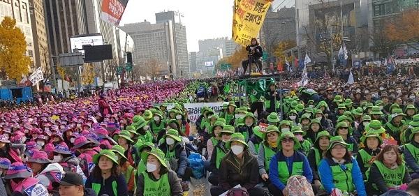 2018년 전국노동자대회(박석운)
