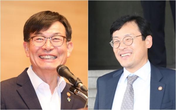 김상조 청와대 정책실장, 이호승 경제수석 (왼쪽부터) / 사진 뉴시스