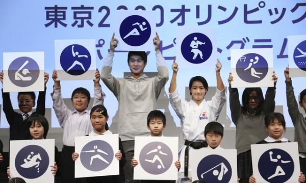 도쿄올림픽 조직위원회는 지난 3월 D-500을 기념해 내년 도쿄 올림픽의 공식 픽토그램을 공개하는 등 기념행사를 열었다. / 사진 뉴시스