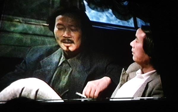 영화 속에 등장한 생전 이타미 준과 작곡가 길옥윤의 모습이다.