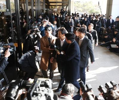 임종석 전 대통령 비서실장이 검찰에 출석하고 있다.ⓒ뉴시스