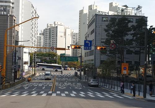 서울 성동구 금북초 스쿨존 주변 폐쇄회로(CC)TV 설치 모습. ⓒ성동구청