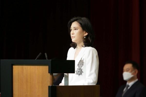 이부진 호텔신라 대표이사 사장이 지난 19일 오전 서울 중구 장충동 호텔신라 장충사옥에서 열린 제47기 정기 주주총회에 참석했다. ⓒ호텔신라